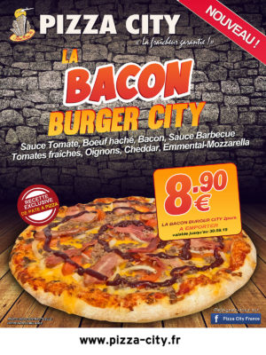 Affiche internet BACON BURGER
